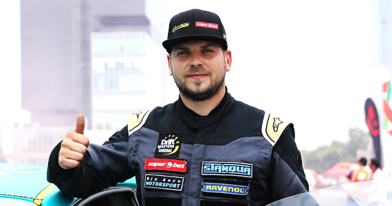 Vlad Stănescu a făcut drift la Roma