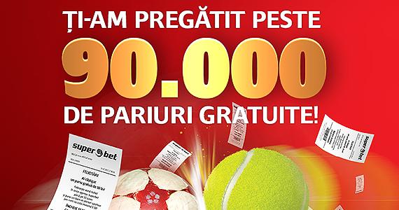 90.000 de pariuri gratuite X 10 lei